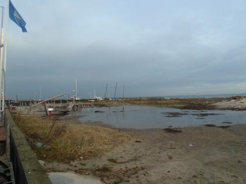 Stormen efterlod Strandlegepladsen i Hornbæk oversvømmet