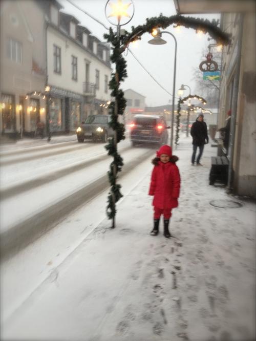 Hvid lillejuleaften i Hornbæk 2012. Foto: Lotte Lund