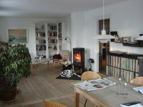 Hvad er der galt hjemme hos familien Lykkegaard. Som billedet antyder er, det ikke antydningen af julepynt at se nogen steder.