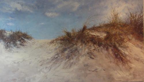 Maleriet Før udsigten malet af Ada Scheller, der udstiller i Galleriet Hornbæk