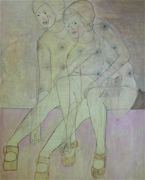 Andre Lindquist udstiller i Hornbæk Galleri. Nyd blandt andet dette skønne kvindemotiv.