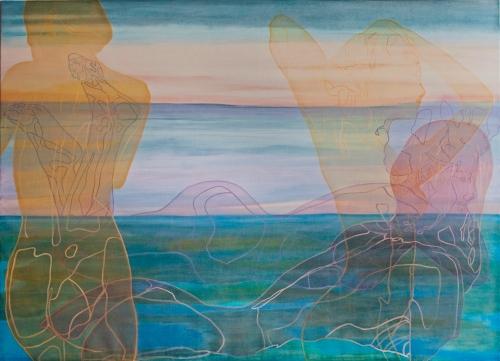 Kunstneren Bente Polano kan det der med lyset og stemningen på nordkysten, som hun demonstrerer her i maleriet Daydreaming . Foto: Bente Polana
