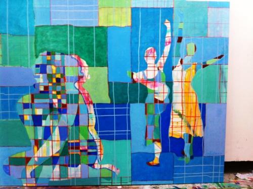 Eksempel på Gabriella Kauffmanns kunst som kan ses i Galleriet Hornbæk.