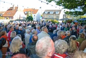 Bytorvet vil også i år blive et centrum for Kulturnatten med trylleri, tango og dejlig mad m.m.m. Foto: Susanne Buhl.
