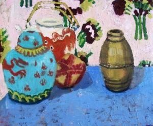 Pia Fonnesbech kan i stil sammenlignes med blandt andre Matisse. Foto: Galleriet Honbæk.
