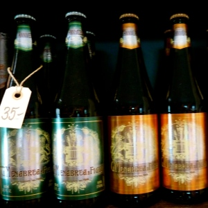 Italienske specialøl fra G. Menabrea , et lille bryggeri i Piemonte, som har blev grundlagt i 1846. Foto: Lotte Lund.