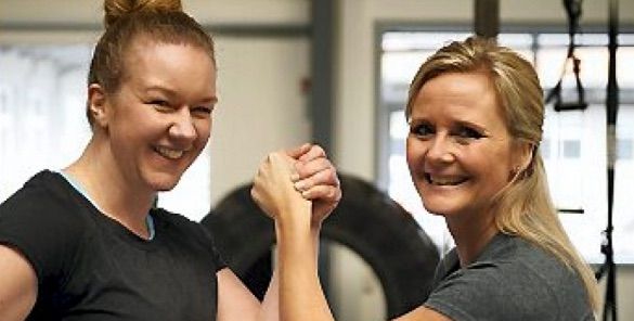 Hornbækker Mette Clemmensen og træner Lotte Søjborg. Foto: Familie-Journalen.