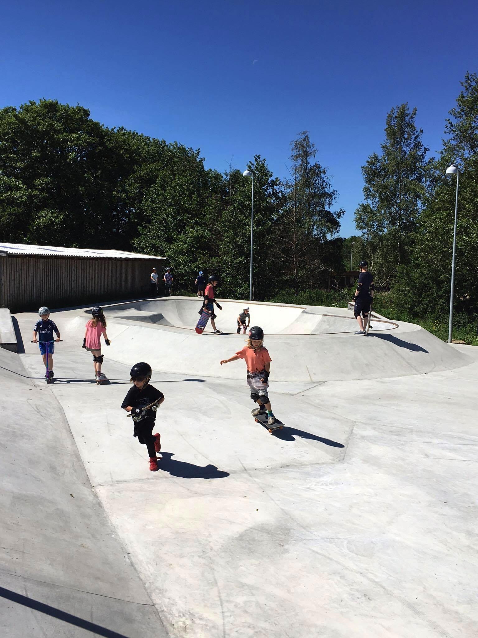 Skaterpark Hornbæk er allerede taget i brug Foto Jonas Larsen